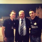 Juxhini, Erioni dhe Scarpini tek zyrat e Interit