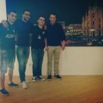 Juxhini, Erioni dhe dy drejtues te Interit ne zyrat e Interit.